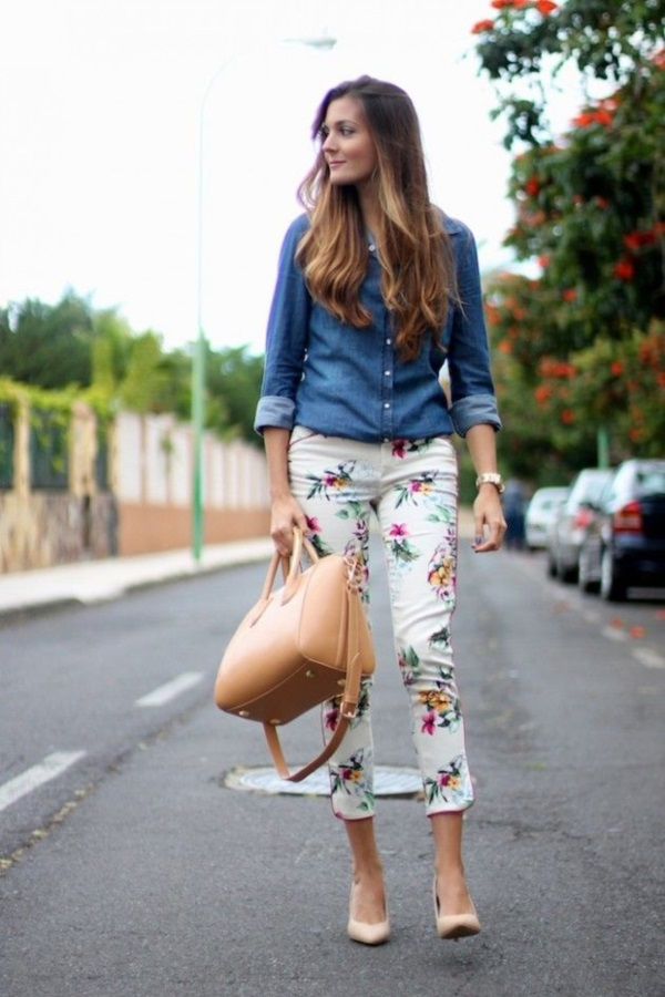 Trendy-Outfit-Ideas-with-Floral-Pants-30